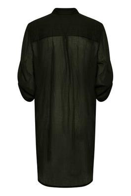 34981a7a1bd Lækker oversize skjorte/kjole fra Kaffe, gennemknappet i struktur ...